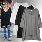 AnnaKastle New Womens Oversized Silky Cape Long Tee T shirts sz size M - L AU