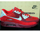 Nike Air Max 90 Premium Olympic Gym Red Medium Grey Black 333888-601 US 9 & 9.5