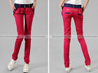 Women Fashion Vintage Harem Sweet Pencil Slim Fit Long Pants Trousers New WPT229