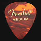 12 Fender Classic Celluloid Guitar Picks Tortoiseshell Thin, Med, Heavy, X Heavy