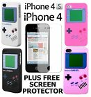 for APPLE IPHONE 4 AND NEW 4S NINTENDO GAMEBOY MULTI COLOURS SILICONE CASE COVER