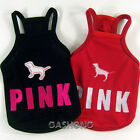 Dog&Cat Clothes PINK Embroidered Halters_A707