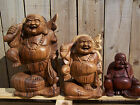 Fair Trade Hand-Carved/Made Wooden Chinese Buddha Statue - 20, 30 Or 40cm.