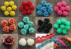 Gorgeous Rose Flower Coral Spacer beads Red Blue White U Choose Color/Size