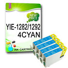4 CYAN NON-OEM T1282 OR T1292 COMPATIBLE INKS REPLACE FOR STYLUS PRINTER