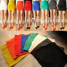 Sexy Woman Mini Skirt Slim Seamless Stretch Tight Short Fitted Candy Dress Skirt
