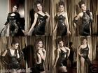 CHRISTMAS Punk Wet Look Black Leather Look Goth Punk Dance Clubwear Dresses