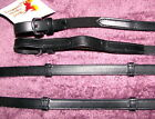 FSS Flexi Aid Elastic Insert Soft Contact DRESSAGE Leather Notch Hand Stop Reins