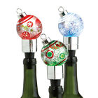 489208 Ornament Shimmer Bottle Stopper  2 x 5  Wine Bottle   Decor