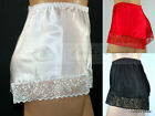 Satin French Knickers Luxury Lace Decoration 10 to 28 UK Made