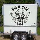 HOT & COLD FOOD CHEF Catering Van Trailer Graphic Sticker Vinyl Transfer