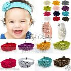 Cute Baby Kids Girls Head Decoration Cotton Flowers Elastic Headband Hair Band