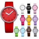 11PCS Party Gift Leather Band Quartz Analog Men Lady Kid Child Round Wrist Watch