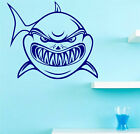 Frightening Shark Wall Decal. Wall Sticker & Wall Tatoo. Many colours. New.
