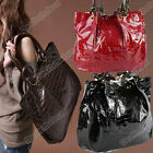 Korea Ladies PU Leather Purses Crocodile Handbags Totes Shoulder Bag