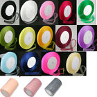 50 Yard Roll Sheer Organza Ribbon - 15mm Wide - Choose Colour
