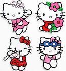 HELLO KITTY Sew Iron On Transfer Fabric Embroidered Patch Applique Kids Craft