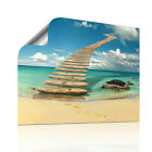 Knockin' on Heaven's Door - Fotodruck Wellness Bild modern Treppen Himmel Meer