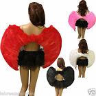 Adult Dark Angel Wings Goth Devil Fancy Dress Black Red Pink White 80cm Wide