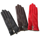 3 color Hot sale Luxury Handsewn Italian nappa leather winter super warm gloves