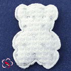 White Bear Appliques Padded Craft Sewing Scrapbooking Trim APQM03