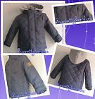 BABY BOYS JACKET WINTER COAT QUILTED HOODIE BLUE TODDLER 6 12 18 24 MONTHS NEW
