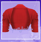 GIRLS BOLERO SHRUG PLAIN RED CHRISTMAS CARDIGAN KIDS CHILDREN TEEN AGE 2-13 YRS