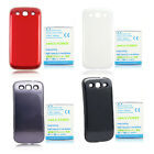 New 4500mAh Extended Battery+ White Case for Samsung Galaxy S3 III S 3 i9300