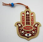 24k Gold Plated Hamsa Good Luck Mazal מזל Wall Hanging Kabbalah Evil Eye Success