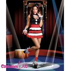 Sexy Lady Circus Outift Cirque Clown Fancy Dress Halloween Party Costume