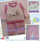 BABY GIRLS OUTFIT PINK TOP PANTS CORDS 3 PIECE TODDLER 0-3 6-9 12-18 MONTHS NEW