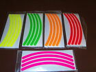 """Dayglo Wheel Trim/rim decal kit-11"""" & 12"""" moped scooter 50cc 125cc electric tyre"""