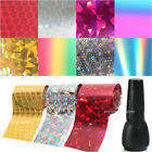 New Nail Art Transfer Foils Set Free Adhesive Acrylic Gel System Tips Decoration