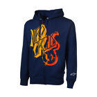 New Alpinestars Nitro circus Skewed Zip up Hoodie Blue