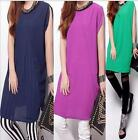 womens's Long sleeve T-shirt LOOSE lace&Chiffon tops dress 3 colors plus size