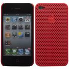 Plastic Perforated Mesh Case for Apple iPhone 4