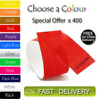 400 x Tyvek Wristbands ID Security Bands FREE P&P Coloured Wristbands