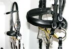 FSS German POSH Comfort Crank Caveson Weymouth DOUBLE Dressage BRIDLE 2x REINS