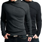 Luxury New Men's Cardigan Warm Special Collar Knit knitwear Size XS S M L