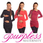 MATERNITY ASYMMETRIC NECK TOP TUNIC Pregnancy Wear size 8 10 12 14 16 18 6053