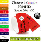 50 x PRINTED Tyvek Wristbands ID Security Bands FREE P&P Coloured Wristbands