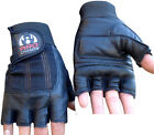 Leather Weight Lifting Gloves Padded Gym Body Building Fitness Bodybuilding
