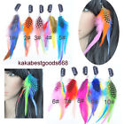 Woman's 10Colors Party Synthesis Feathers headbands Clip-In Hair Extensions KP93