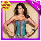 Ladies Burlesque Corset Moulin Rouge Lace up Bustier Party Dress Costume