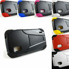 for LG Google Nexus 4 E960 +Pry Tool Sleek Hybrid Hard/Soft Kickstand Case Cover