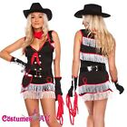 Ladies Cowgirl Costume Western Wild West Indian Halloween Hens Party Fancy Dress
