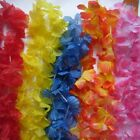 12 Garlands Hawaiian Flower Lei, Tropical party Fancy Dress 12 Colour