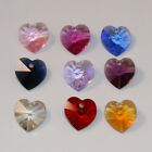2 x genuine Swarovski elements crystal heart pendants for jewellery making 10mm