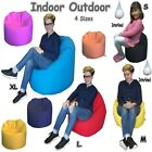 Large Indoor Outdoor Bean Bags Chair Adults Kids Bean Bag 4 Sizes Comes Filled