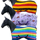 HORSE COB PONY FULL COOLER STABLE SHOW FULL NECK TRAVEL COMBO FLEECE RUG 4 3-7 0